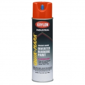 Krylon AT3701007 Quik-Mark Solvent Based Inverted Marking Paint - Fluorescent Red/Orange - 20 oz Can (Net Weight 17 oz)