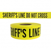 SHERIFFS LINE DO NOT CROSS - Barricade Tape 1000 ft Roll-3 Mil