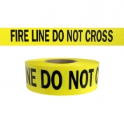 FIRE LINE DO NOT CROSS - Barricade Tape 1000 ft Roll-3 Mil