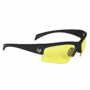 Bone Collector 10-Ring Protective Eyewear - Black Frame - Amber Lens