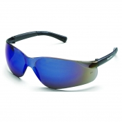 Crews BK118 BearKat Safety Glasses - Gray Temples - Blue Mirror Lens