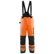 Blaklader 1685 Hi-Vis Rain Pants - Orange/Black