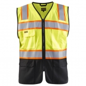 Blaklader 3130 Hi-Vis Black Bottom Mesh Vest - Yellow