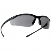 Bolle 40045 Contour Safety Glasses - Dark Gunmetal Frame - Smoke Anti-Fog Lens