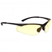 Bolle 40046 Contour Safety Glasses - Dark Gunmetal Frame - Yellow Anti-Fog Lens