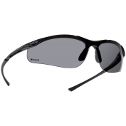 Bolle 40048 Contour Safety Glasses - Dark Gunmetal Temples - Smoke Polarized Lens
