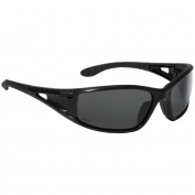 Bolle 40053 Lowrider Safety Glasses - Black Temples - Grey Polarized Anti-Fog Lens