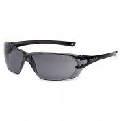 Bolle 40058 Prism Safety Glasses - Black Temples - Smoke Anti-Fog Lens