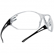 Bolle 40080 Slam Safety Glasses - Black Temples - Clear Anti-Fog Lens