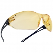 Bolle 40082 Slam Safety Glasses - Matte Black Temples - Yellow Anti-Fog Lens