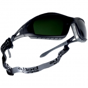 Bolle 40089 Tracker Safety Glasses/Goggles - Black/Grey Temples - Welding Shade 5 Polycarbonate Lens