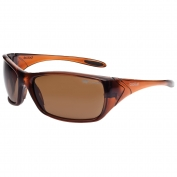 Bolle 40153 Voodoo Safety Glasses - Brown Frame - Brown Polarized Anti-Fog Lens