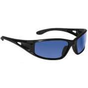 Bolle 40156 Lowrider Safety Glasses - Black Temples - Blue Mirror Anti-Fog Lens