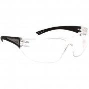Bolle 40160 Slam Safety Glasses - Black Reflective Temples - Clear Anti-Fog Lens