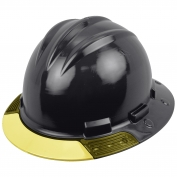 Bullard AVBKBY AboveView Full Brim Hard Hat - Ratchet Suspension - Black - Yellow Visor