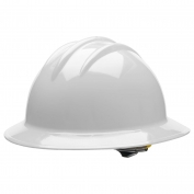 Bullard C33GGR Classic Full Brim Hard Hat - Ratchet Suspension - Gull Grey
