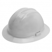 Bullard C35WHR Classic Extra-Large Full Brim Hard Hat - Ratchet Suspension - White