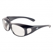 Bullhead BH291 Over Glass Safety Glasses - Gray Frame - Clear Lens