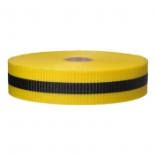 Yellow-Black Woven Barricade Ribbon