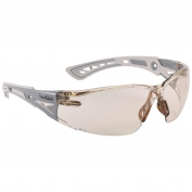 Bolle 40294 Rush+ Safety Glasses - Grey Temples - CSP Platinum Anti-Fog Lens