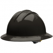 Bullard C33BKR Classic Full Brim Hard Hat - Ratchet Suspension - Black