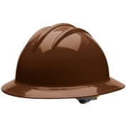 Bullard C33CBR Classic Full Brim Hard Hat - Ratchet Suspension - Chocolate Brown