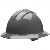 Bullard C33DGR Classic Full Brim Hard Hat - Ratchet Suspension - Dove Grey