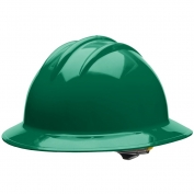 Bullard C33FGR Classic Full Brim Hard Hat - Ratchet Suspension - Forest Green