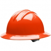 Bullard C33HOR Classic Full Brim Hard Hat - Ratchet Suspension - Hi-Viz Orange
