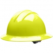 Bullard C33HYR Classic Full Brim Hard Hat - Ratchet Suspension - Hi-Viz Yellow