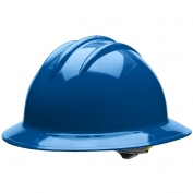 Bullard C33KBR Classic Full Brim Hard Hat - Ratchet Suspension - Kentucky Blue