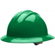 Bullard C33KGR Classic Full Brim Hard Hat - Ratchet Suspension - Kelly Green