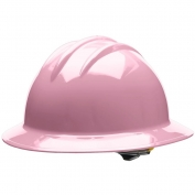 Bullard C33LPR Classic Full Brim Hard Hat - Ratchet Suspension - Light Pink
