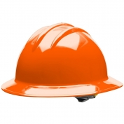 Bullard C33ORR Classic Full Brim Hard Hat - Ratchet Suspension - Orange