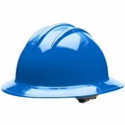 Bullard C33PBR Classic Full Brim Hard Hat - Ratchet Suspension - Pacific Blue