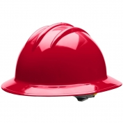 Bullard C33RDR Classic Full Brim Hard Hat - Ratchet Suspension - Red