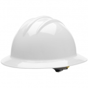 Bullard C33WHR Classic Full Brim Hard Hat - Ratchet Suspension - White