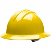 Bullard C33YLR Classic Full Brim Hard Hat - Ratchet Suspension - Yellow