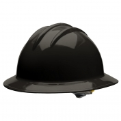 Bullard C34BKR Classic Full Brim Hard Hat - Ratchet Suspension - Black