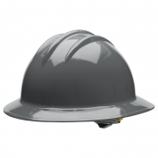 Bullard C34DGR Classic Full Brim Hard Hat - Ratchet Suspension - Dove Grey