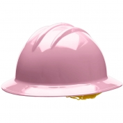 Bullard C34LPP Classic Full Brim Hard Hat - Pinlock Suspension - Light Pink