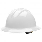 Bullard C34WHR Classic Full Brim Hard Hat - Ratchet Suspension - White