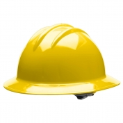 Bullard C34YLR Classic Full Brim Hard Hat - Ratchet Suspension - Yellow