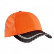 Port Authority C836 Enhanced Visibility Cap - Safety Orange/Black/Reflective