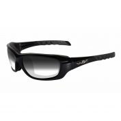 Wiley X Gravity Sunglasses - Gloss Black Frame - Light Adjusting Grey Lens