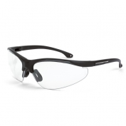 CrossFire Brigade Safety Glasses - Black Frame - Clear Lens