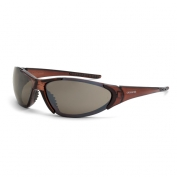 CrossFire Core Safety Glasses - Brown Frame - Brown Mirror Lens