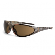 CrossFire Core Safety Glasses - Brown Camo Frame - Brown Lens