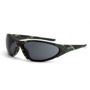 CrossFire Core Safety Glasses - Green Camo Frame - Smoke Lens