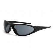 CrossFire Core Safety Glasses - Black Frame - Smoke Lens